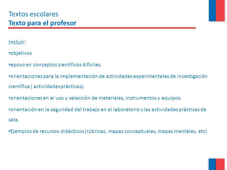 Incluir: objetivos apoyo en conceptos científicos difíciles. orientaciones para la implementación de actividades experimentales de investigación cient