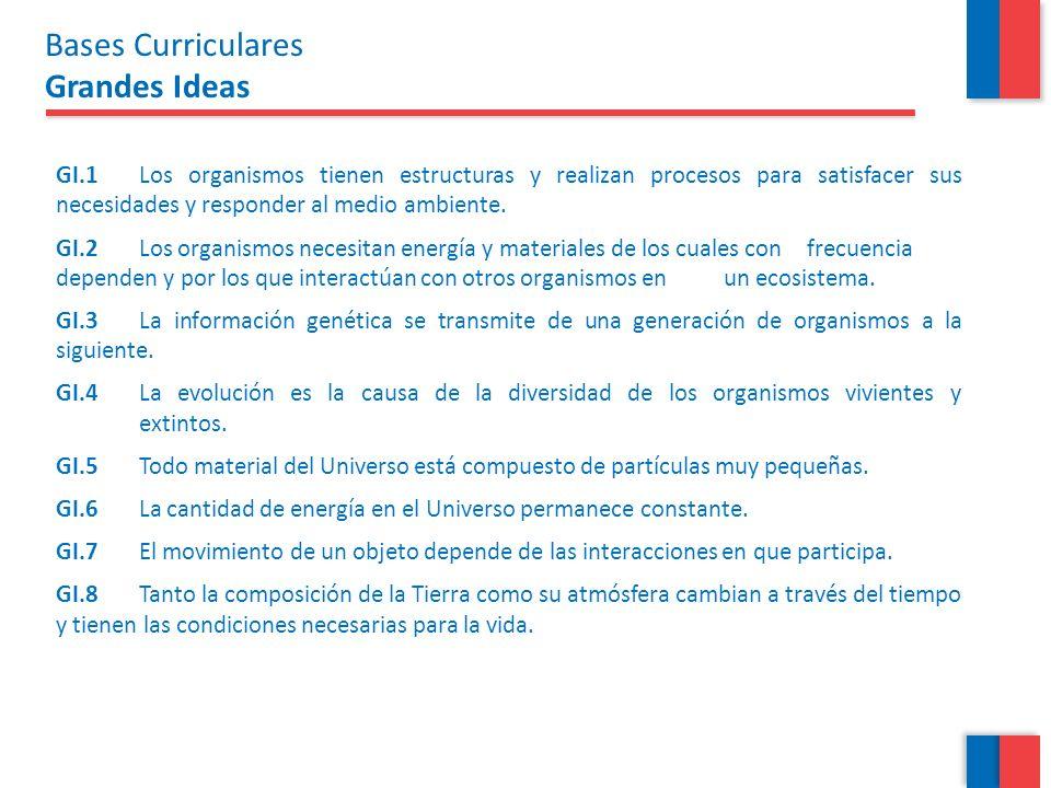 Programas de Estudio Las Grandes Ideas en los Programas En la introducción de la Unidad: GI con que se relaciona la Unidad 2 de 7° básico.