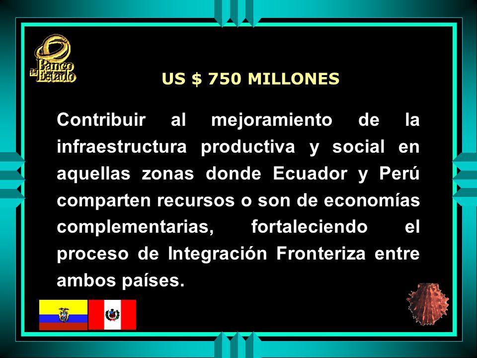 Contribuir al mejoramiento de la infraestructura productiva y social en aquellas zonas donde Ecuador y Perú comparten recursos o son de economías complementarias, fortaleciendo el proceso de Integración Fronteriza entre ambos países.