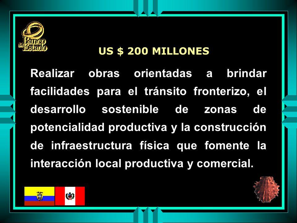 Realizar obras orientadas a brindar facilidades para el tránsito fronterizo, el desarrollo sostenible de zonas de potencialidad productiva y la construcción de infraestructura física que fomente la interacción local productiva y comercial.