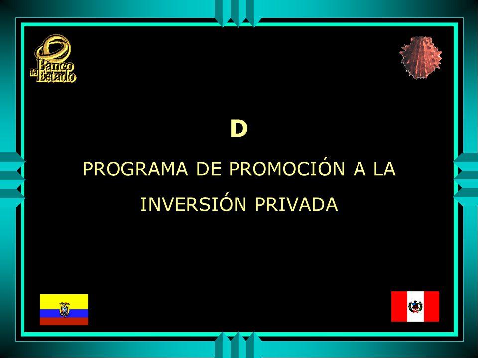D PROGRAMA DE PROMOCIÓN A LA INVERSIÓN PRIVADA