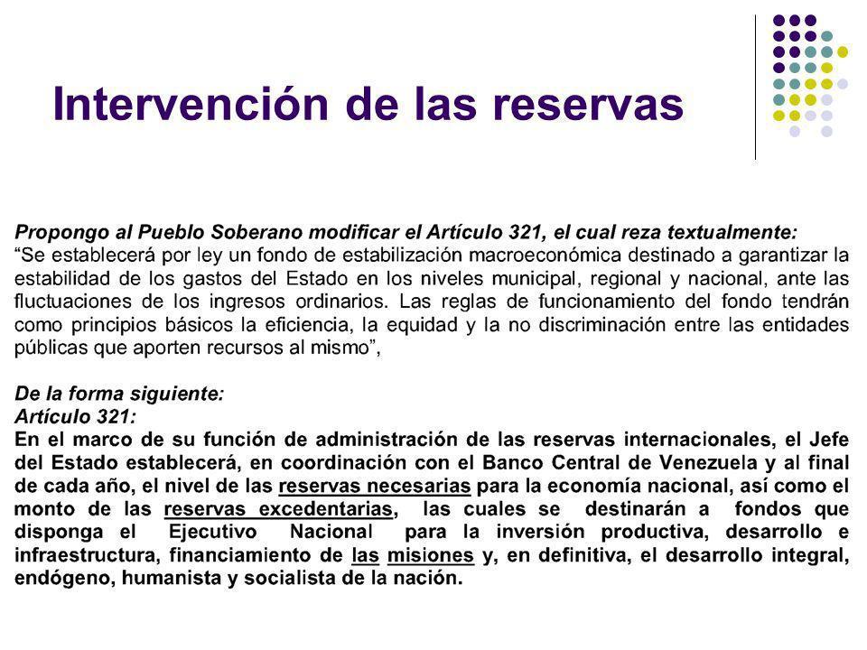 Intervención de las reservas