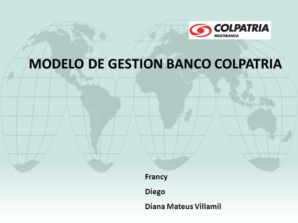 MODELO DE GESTION BANCO COLPATRIA Francy Diego Diana Mateus Villamil