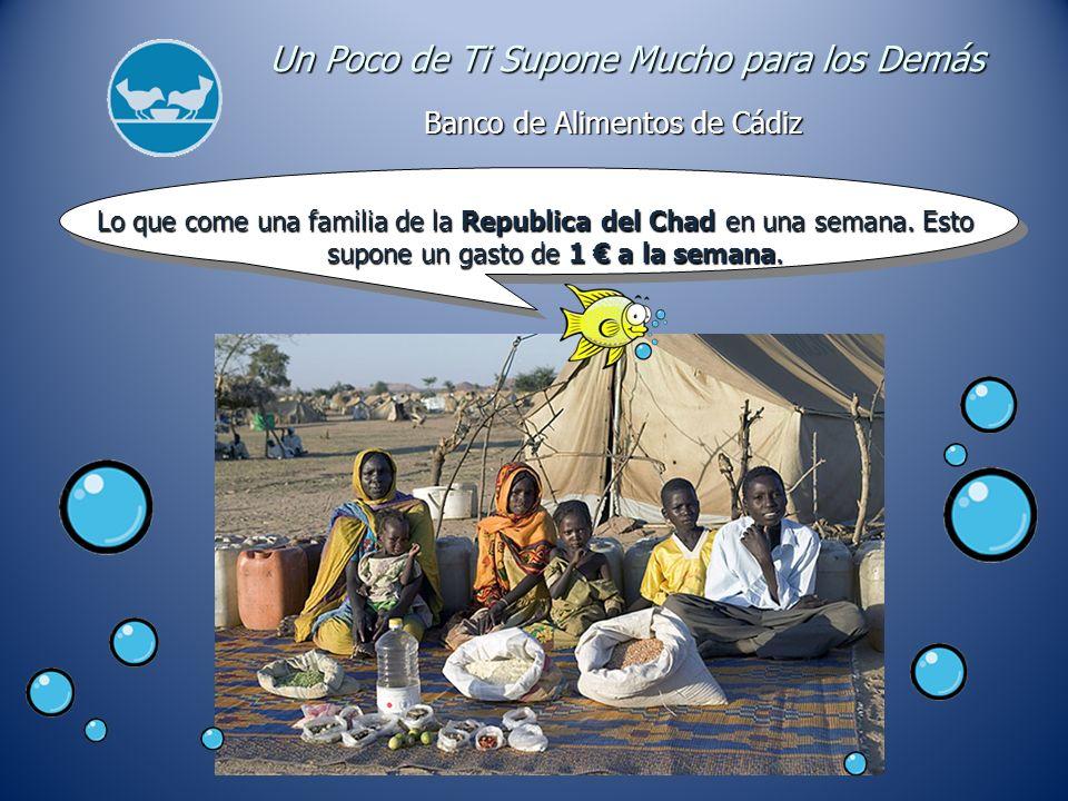 Lo que come una familia de la Republica del Chad en una semana.