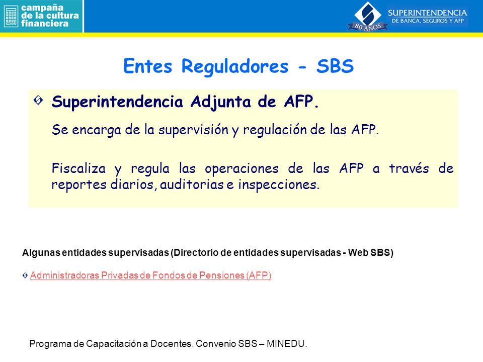 Superintendencia Adjunta de AFP.Se encarga de la supervisión y regulación de las AFP.