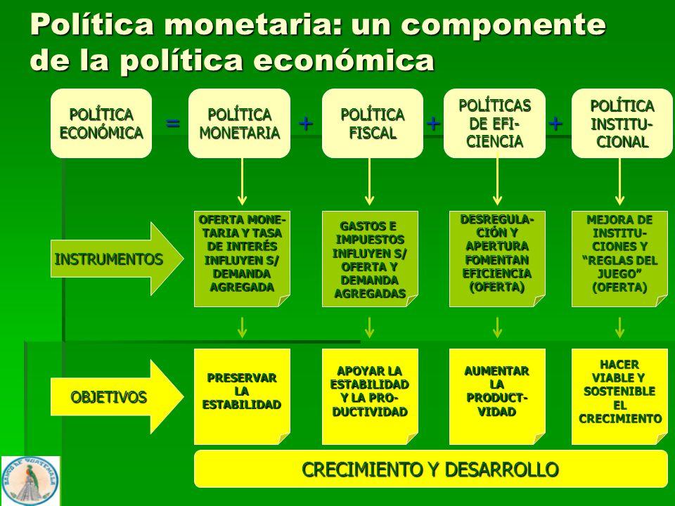 4 POLÍTICAECONÓMICA = POLÍTICAS DE EFI- CIENCIA +++ INSTRUMENTOS OBJETIVOS DESREGULA- CIÓN Y APERTURAFOMENTANEFICIENCIA(OFERTA) AUMENTARLAPRODUCT-VIDA