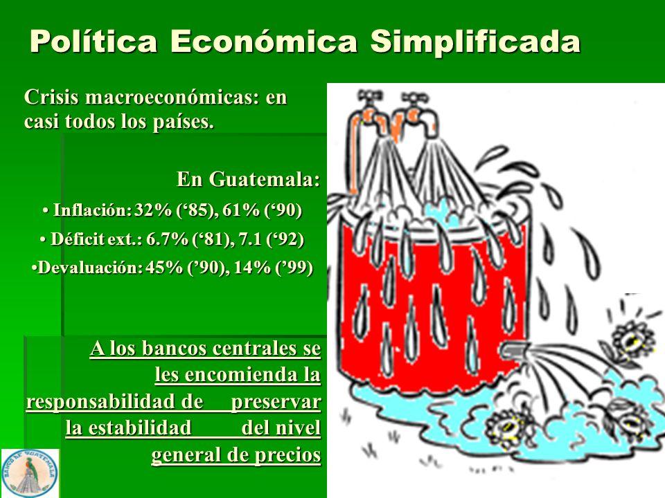 7 Crisis macroeconómicas: en casi todos los países. En Guatemala: Inflación: 32% (85), 61% (90) Inflación: 32% (85), 61% (90) Déficit ext.: 6.7% (81),