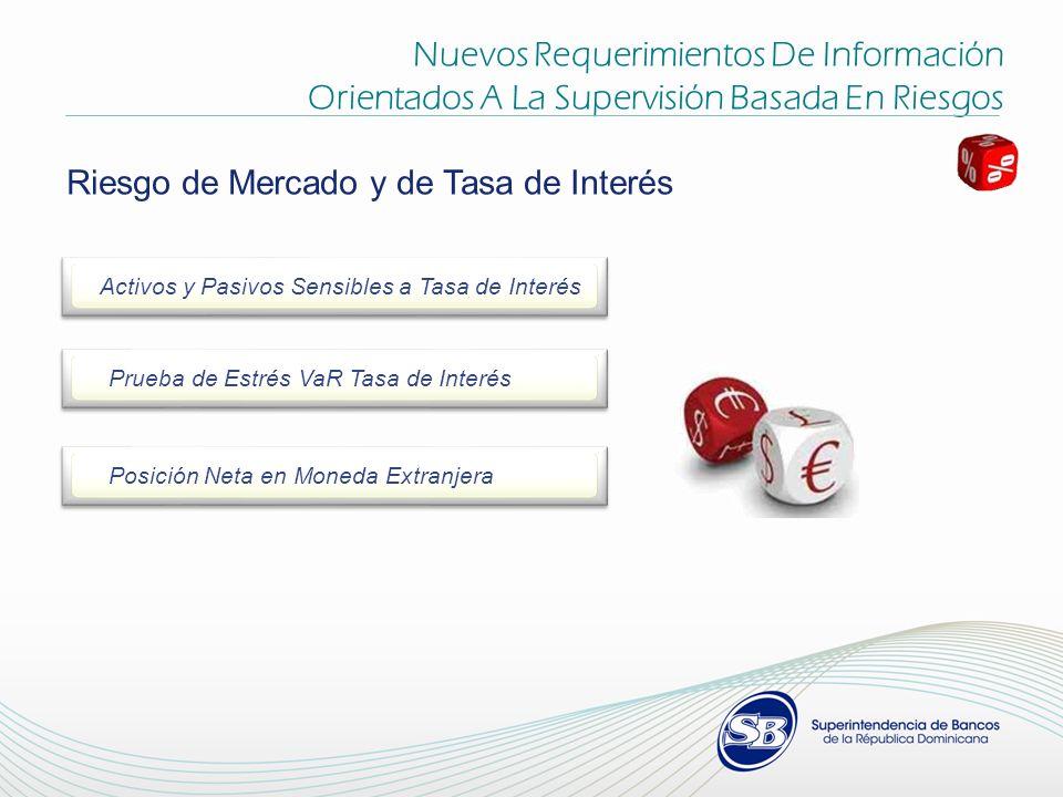 Nuevos Requerimientos De Información Orientados A La Supervisión Basada En Riesgos Riesgo de Mercado y de Tasa de Interés Activos y Pasivos Sensibles