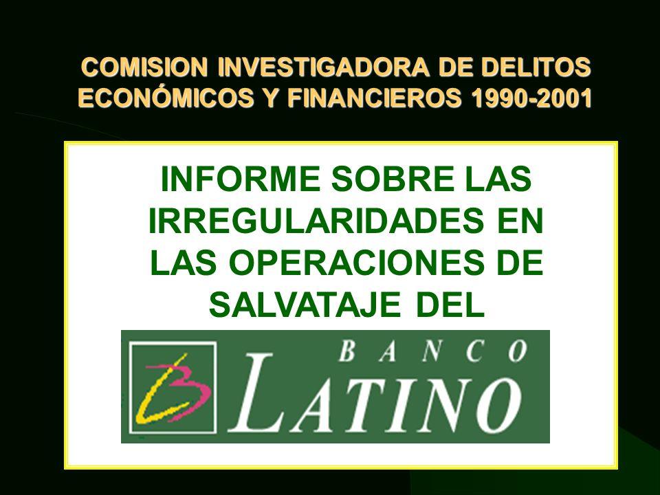 LOS HECHOS INVESTIGADOS POR NUESTRA COMISIÓN La investigación tuvo dos niveles: Económico- financiero Legal.