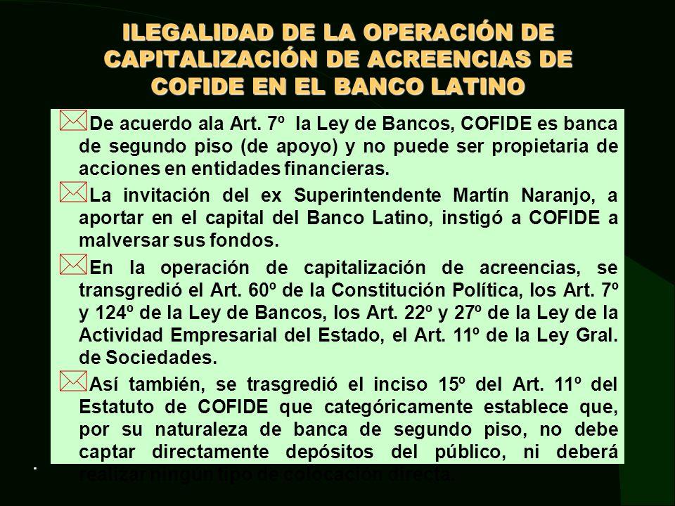 UN SALVATAJE INJUSTIFICADO DEFICIENCIAS EN LA OPERACIÓN: * No se hizo un diagnóstico de la crisis del banco antes de decidir utilizar recursos del Estado.