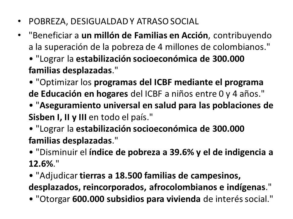 POBREZA, DESIGUALDAD Y ATRASO SOCIAL