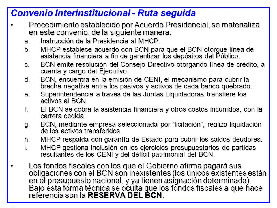 Convenio Interinstitucional - Ruta seguida Procedimiento establecido por Acuerdo Presidencial, se materializa en este convenio, de la siguiente manera