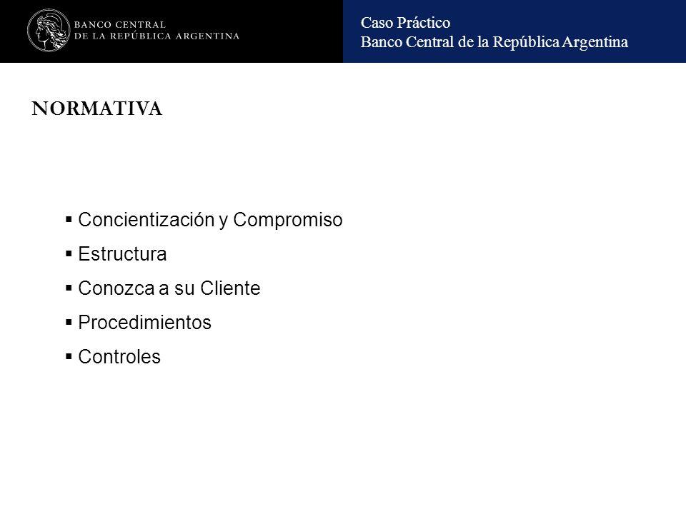 Caso Práctico Banco Central de la República Argentina Clientes: situaciones particulares.