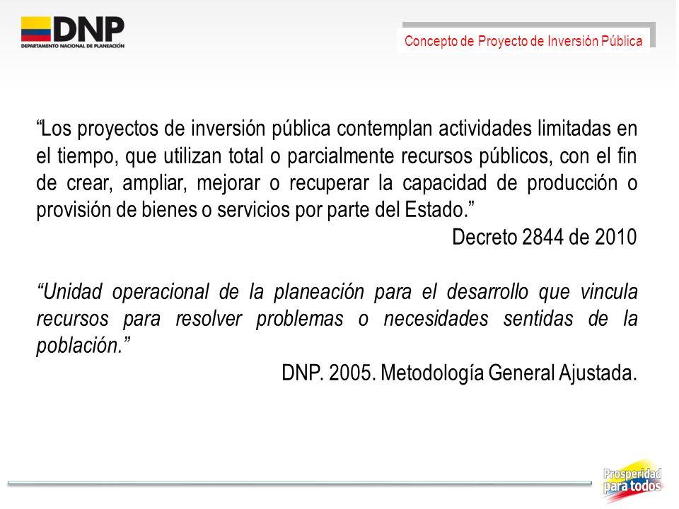 Los proyectos de inversión pública contemplan actividades limitadas en el tiempo, que utilizan total o parcialmente recursos públicos, con el fin de c
