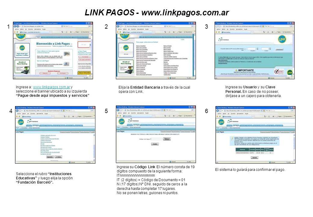 LINK PAGOS - www.linkpagos.com.ar Ingrese a: www.linkpagos.com.ar y seleccione el banner ubicado a su izquierda Pague desde aquí impuestos y servicios