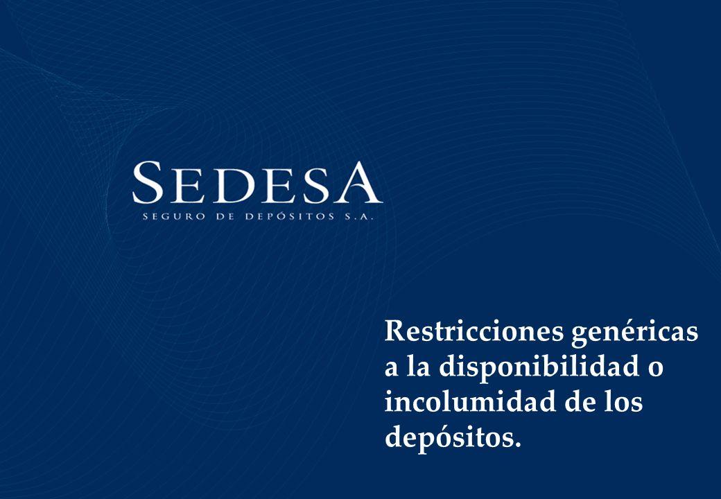 Leyes 2776 y 2782 (1891), ratificaron la autorización a los bancos Nacional y de la Provincia de Buenos Aires a suspender – por 90 días- el pago de los depósitos y saldos de cuentas corrientes a la vista.