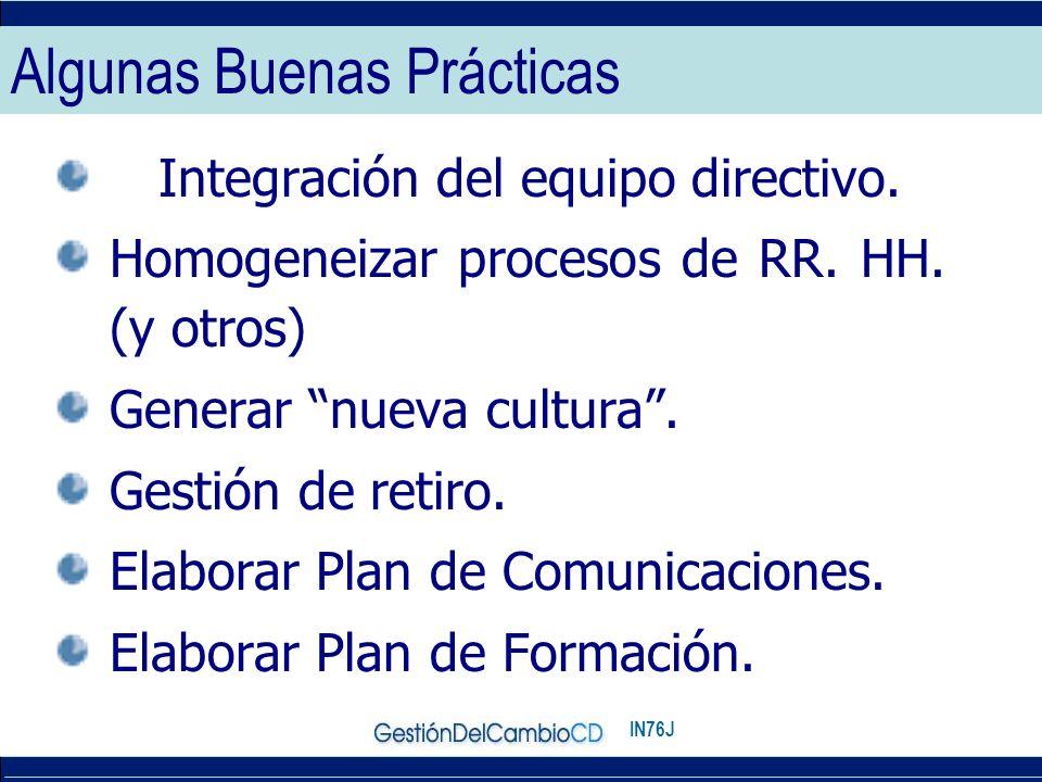 IN76J Algunas Buenas Prácticas Integración del equipo directivo.