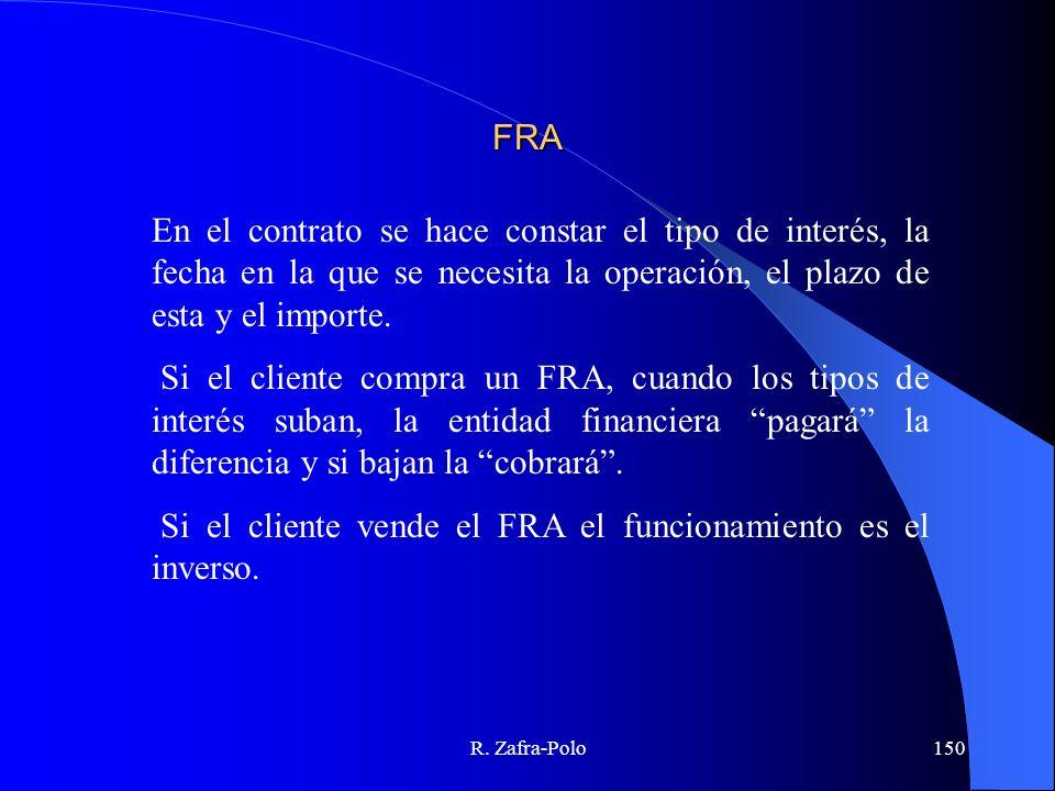 R. Zafra-Polo150 FRA En el contrato se hace constar el tipo de interés, la fecha en la que se necesita la operación, el plazo de esta y el importe. Si