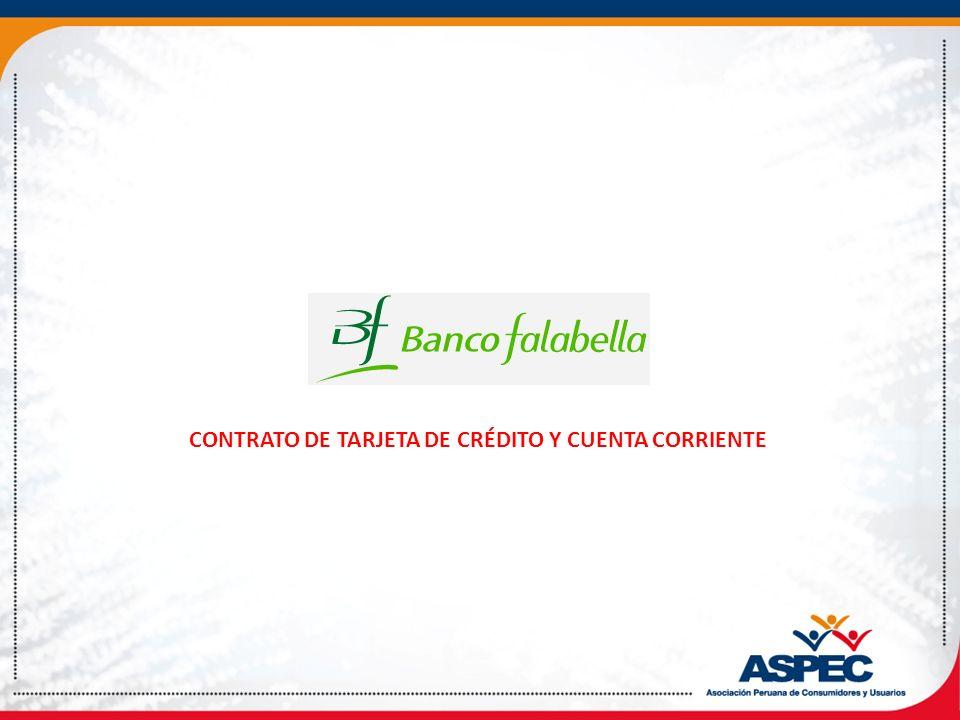 CONTRATO DE TARJETA DE CRÉDITO Y CUENTA CORRIENTE
