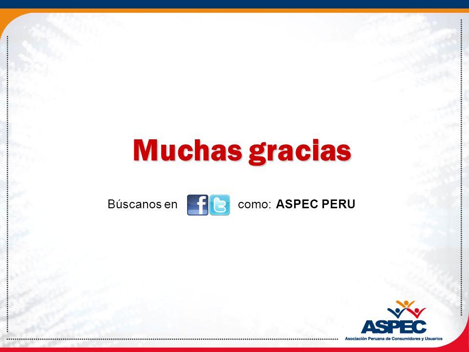 Búscanos en como: ASPEC PERU Muchas gracias