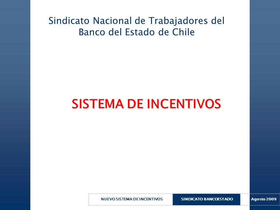 NUEVO SISTEMA DE INCENTIVOSSINDICATO BANCOESTADO Agosto 2009 SISTEMA DE INCENTIVOS SISTEMA DE INCENTIVOS Sindicato Nacional de Trabajadores del Banco