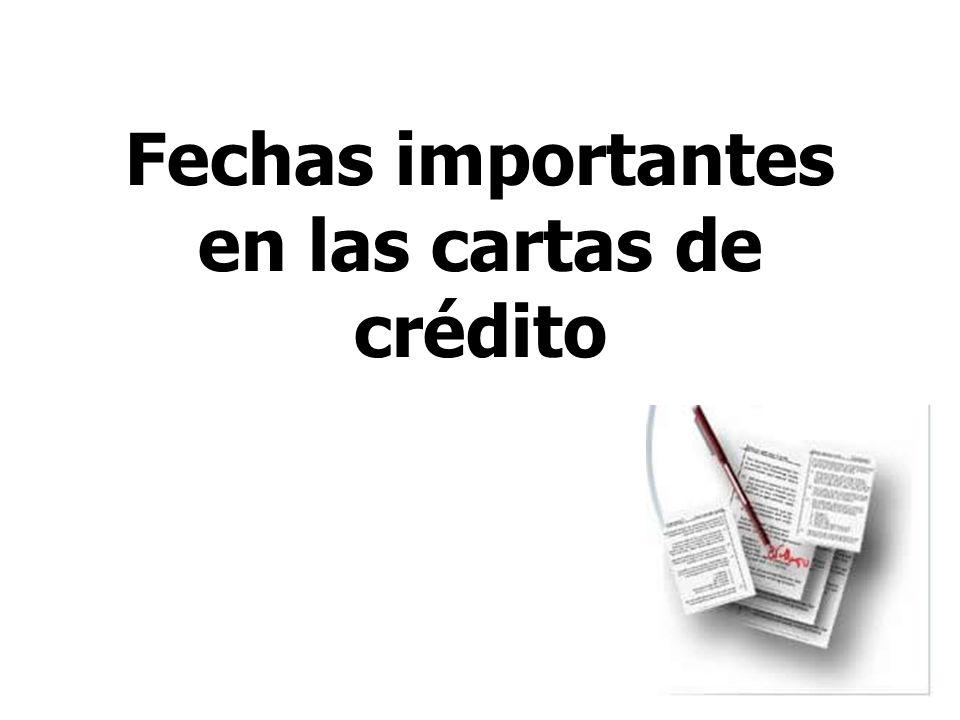 29 Fechas importantes en las cartas de crédito