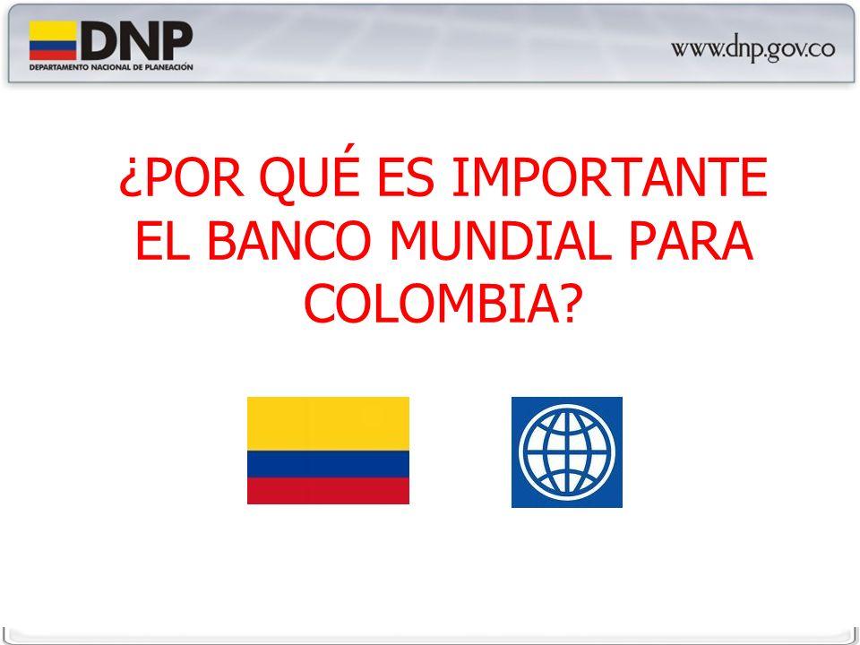 ¿POR QUÉ ES IMPORTANTE EL BANCO MUNDIAL PARA COLOMBIA