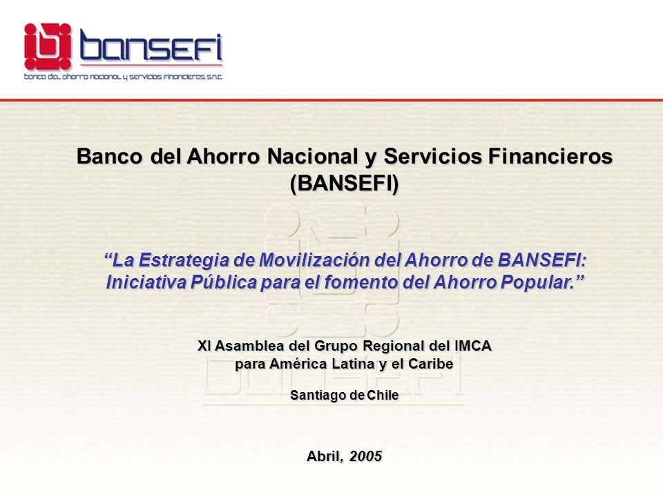 Banco del Ahorro Nacional y Servicios Financieros (BANSEFI) La Estrategia de Movilización del Ahorro de BANSEFI: Iniciativa Pública para el fomento de