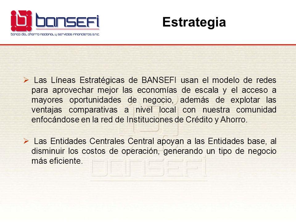 Las Líneas Estratégicas de BANSEFI usan el modelo de redes para aprovechar mejor las economías de escala y el acceso a mayores oportunidades de negoci