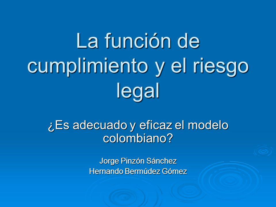 La función de cumplimiento y el riesgo legal – Texto – Principio 6: Recursos La función de cumplimiento del banco debe tener recursos para llevar a cabo sus responsabilidades efectivamente.