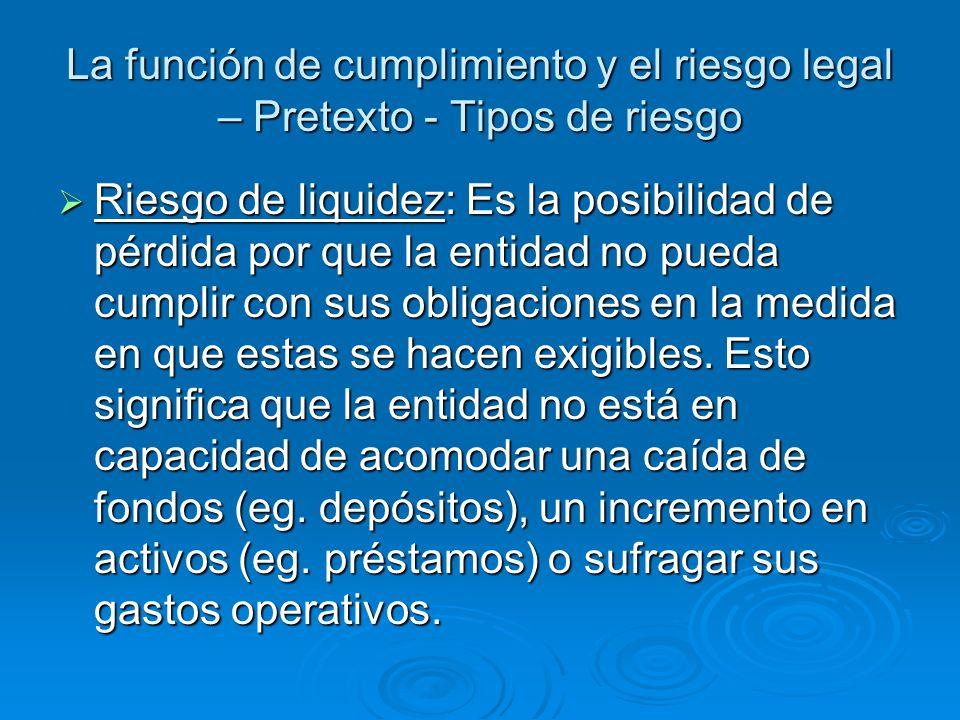 La función de cumplimiento y el riesgo legal – Texto – Principio 2 La gerencia superior del banco es responsable de la administración efectiva del riesgo de cumplimiento del banco.