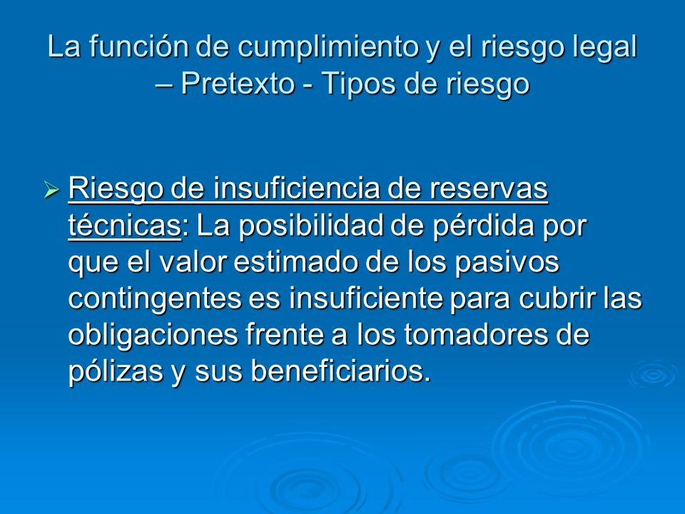 La función de cumplimiento y el riesgo legal – Texto – Principio 4 La gerencia del banco es responsable de establecer una función de cumplimiento permanente y efectiva dentro del banco como parta de la política de cumplimiento del mismo.