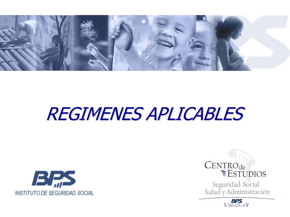 INSTITUTO DE SEGURIDAD SOCIAL REGIMENES APLICABLES