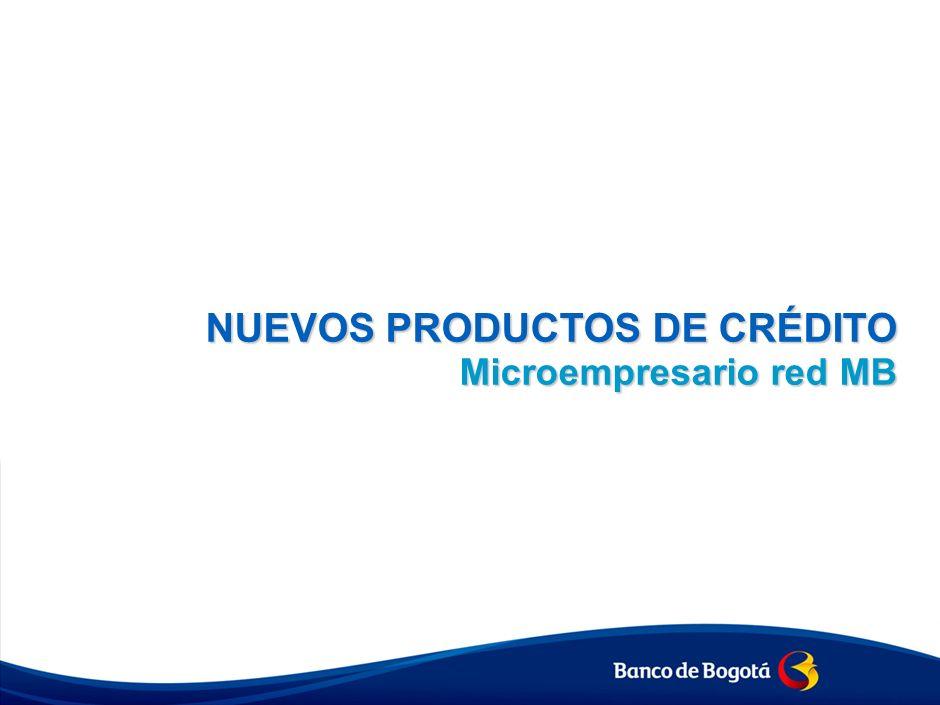 NUEVOS PRODUCTOS DE CRÉDITO Microempresario red MB