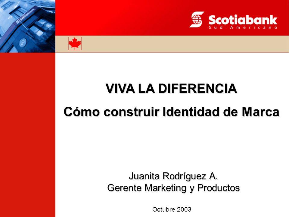 VIVA LA DIFERENCIA Cómo construir Identidad de Marca Juanita Rodríguez A.