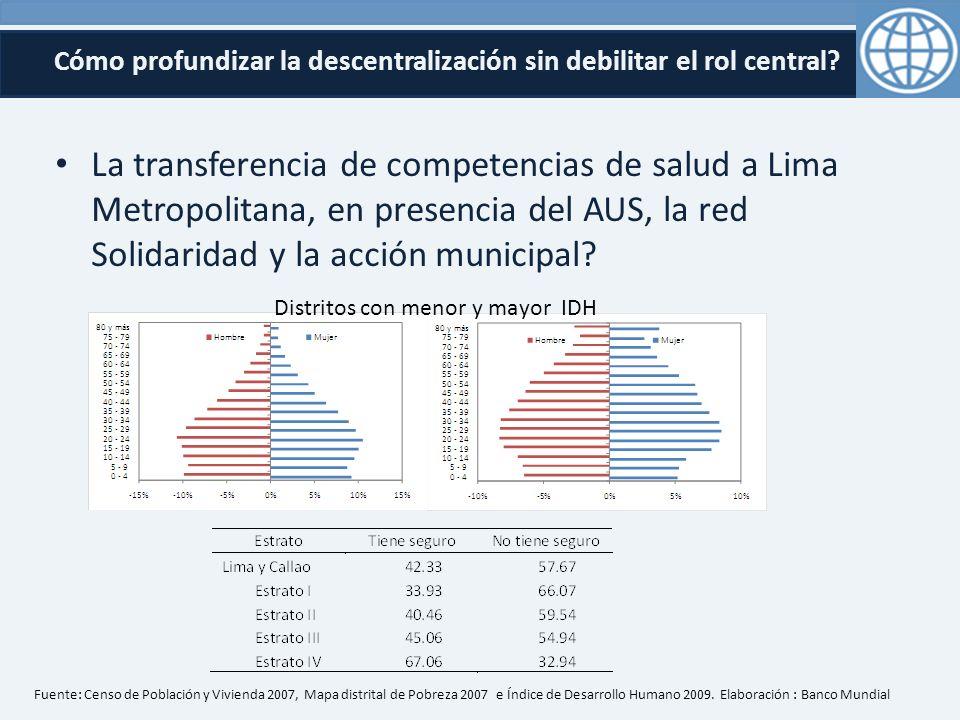 Cómo profundizar la descentralización sin debilitar el rol central.