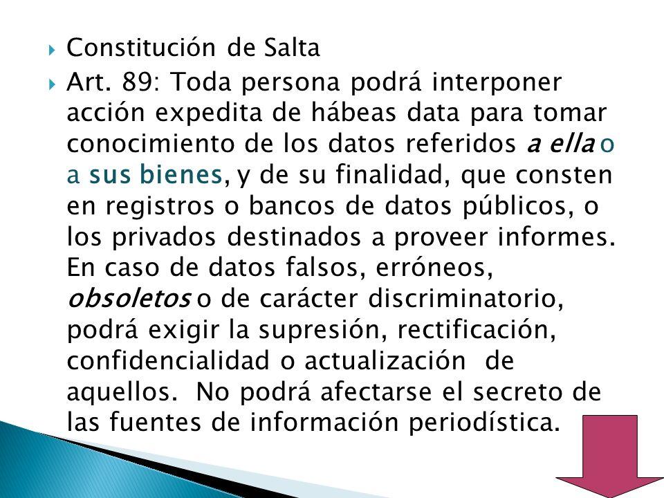 Constitución de Salta Art.