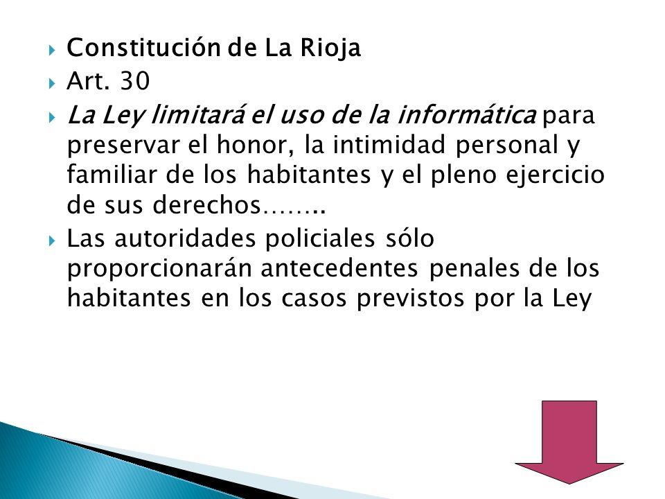 Constitución de La Rioja Art.