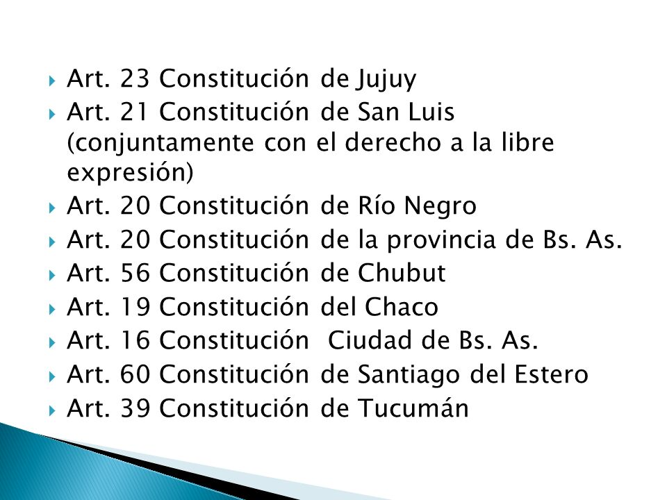 Art. 23 Constitución de Jujuy Art.