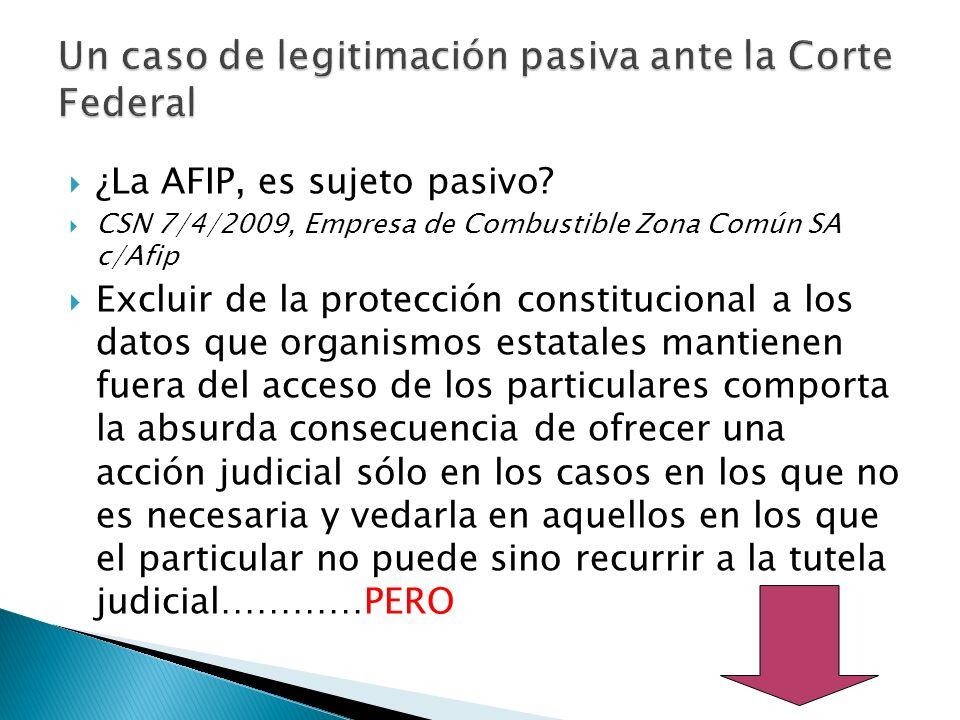 ¿La AFIP, es sujeto pasivo.