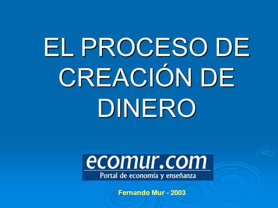 EL PROCESO DE CREACIÓN DE DINERO Fernando Mur - 2003