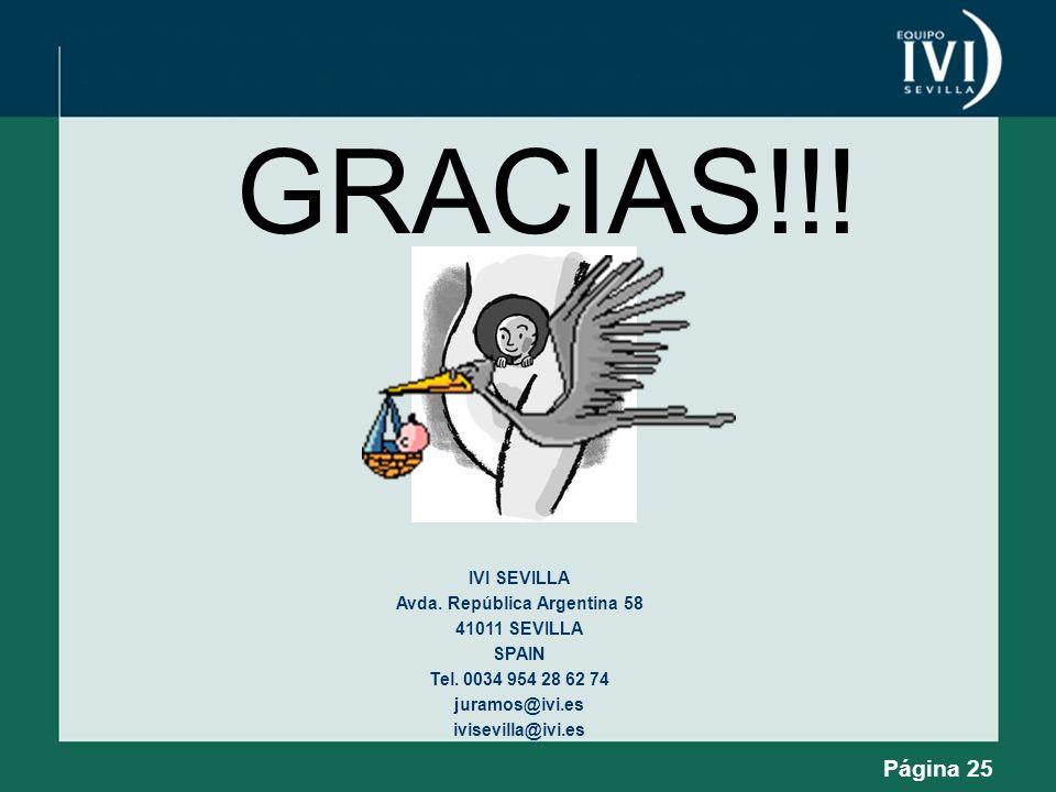 Página 25 GRACIAS!!! IVI SEVILLA Avda. República Argentina 58 41011 SEVILLA SPAIN Tel. 0034 954 28 62 74 juramos@ivi.es ivisevilla@ivi.es