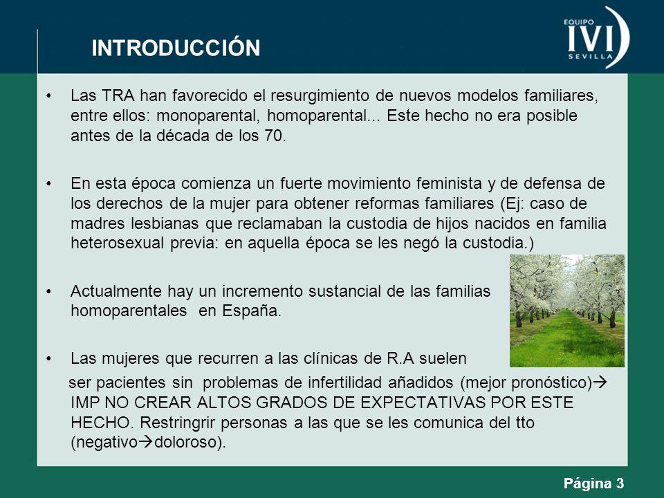 Las TRA han favorecido el resurgimiento de nuevos modelos familiares, entre ellos: monoparental, homoparental... Este hecho no era posible antes de la