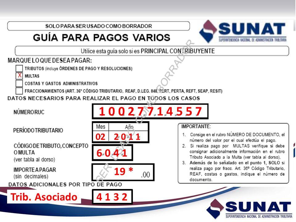 X 1 0 0 2 7 7 1 4 5 5 7 022 0 1 1 6 0 4 1 Trib. Asociado 4 1 3 2 19 *