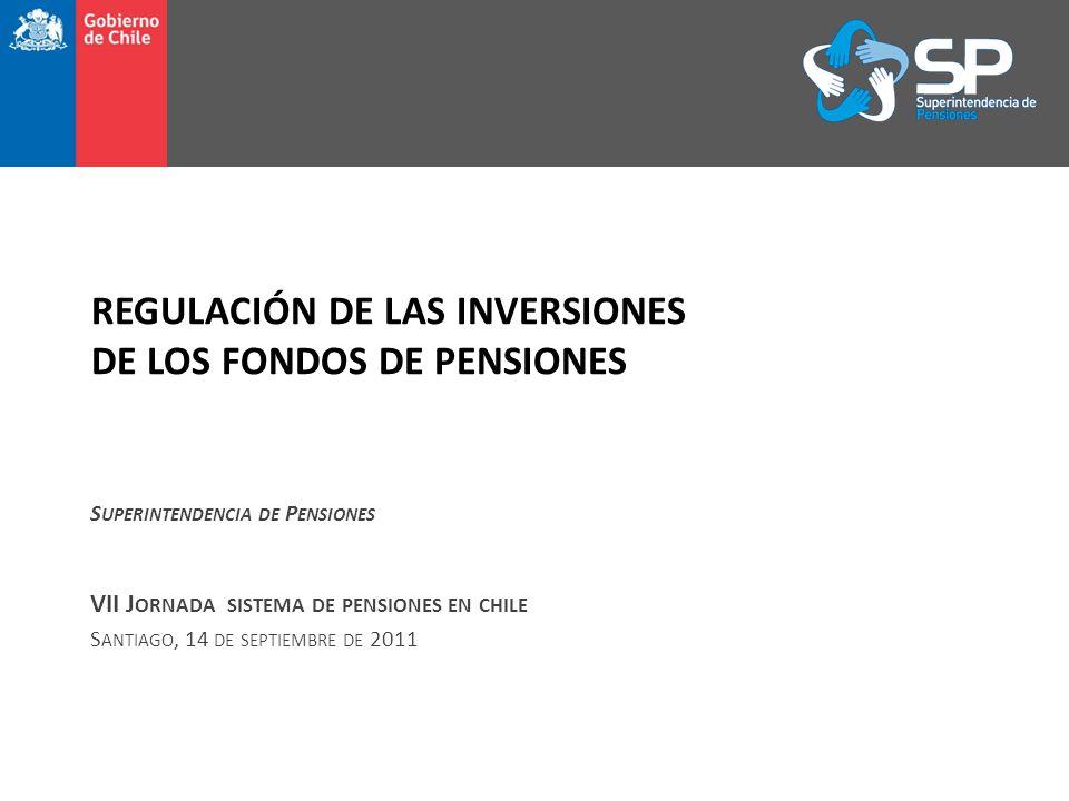 REGULACIÓN DE LAS INVERSIONES DE LOS FONDOS DE PENSIONES S UPERINTENDENCIA DE P ENSIONES VII J ORNADA SISTEMA DE PENSIONES EN CHILE S ANTIAGO, 14 DE SEPTIEMBRE DE 2011
