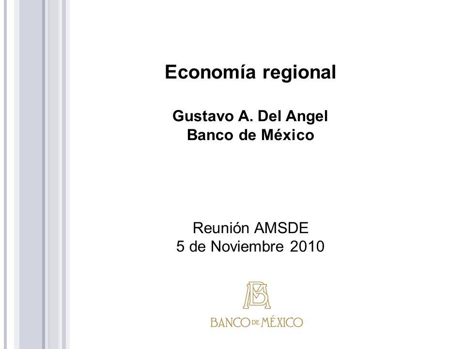 En el tercer trimestre de 2010 las economías regionales crecieron a un ritmo menor respecto al observado en la primera parte del año, distinguiéndose ciertas diferencias interregionales.