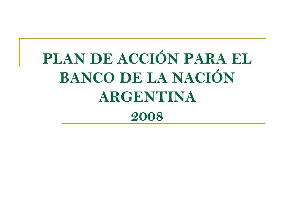 LA MISIÓN DEL BANCO DE LA NACION ARGENTINA EN LA PRESENTE FASE DE LA POLITICA ECONOMICA El Banco de la Nación Argentina como parte de un nuevo proyecto de país que tiene como prioridades afianzar el desarrollo económico y mejorar en forma continua la distribución del ingreso, fortalecerá, en esta etapa, su acción de : impulsar el financiamiento de los sectores productivos, la bancarización de la población y las pequeñas y medianas empresas (pymes), la asistencia financiera a los sectores sociales comprendidos en los planes del gobierno nacional Esta acción se torna prioritaria para asegurar a las pequeñas y medianas empresas un adecuado financiamiento a sus proyectos de inversión.