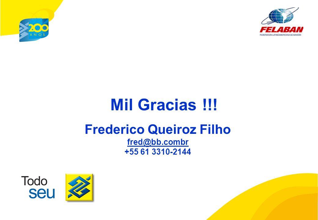 Mil Gracias !!! Frederico Queiroz Filho fred@bb.combr +55 61 3310-2144