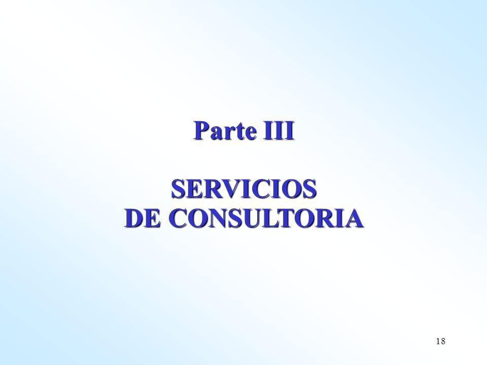 18 Parte III SERVICIOS DE CONSULTORIA