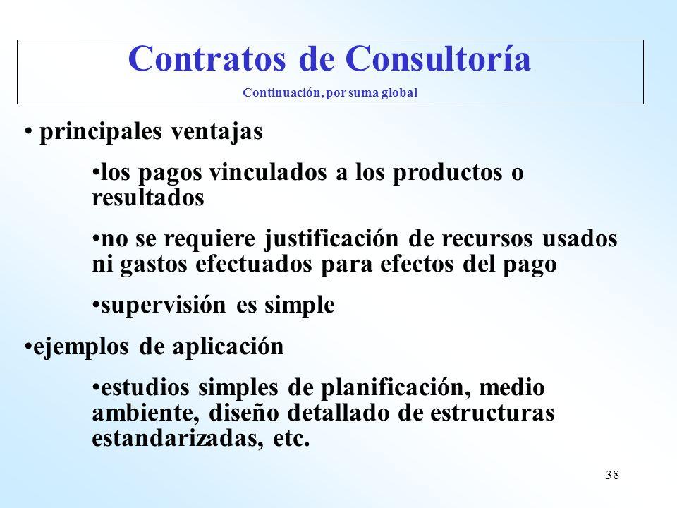 38 principales ventajas los pagos vinculados a los productos o resultados no se requiere justificación de recursos usados ni gastos efectuados para ef